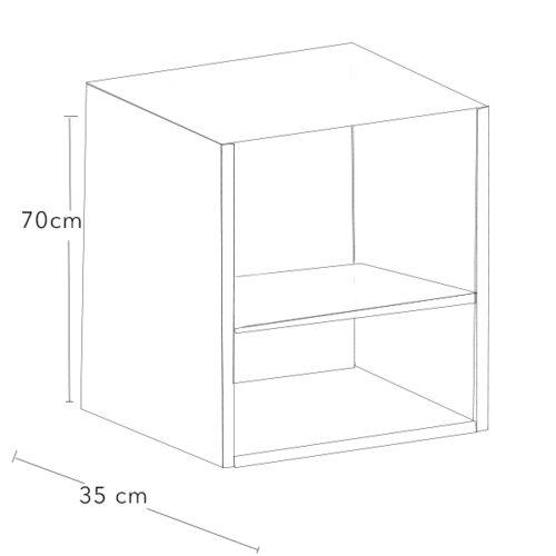 Modulo alto de aluminio para cocina