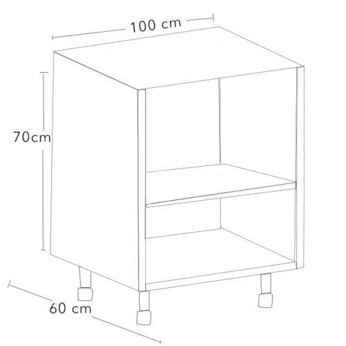 mueble bajo de cocina 100 x 70 x 60