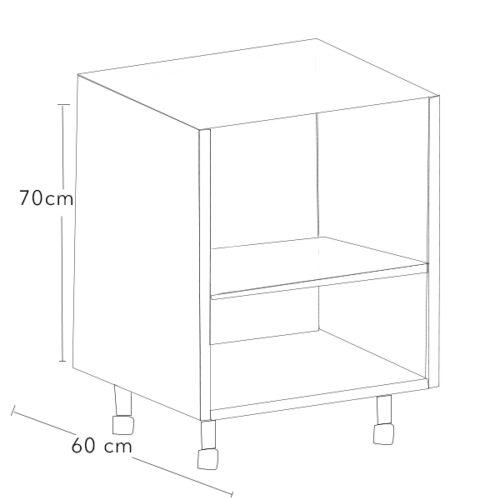 modulo bajo de aluminio para cocina